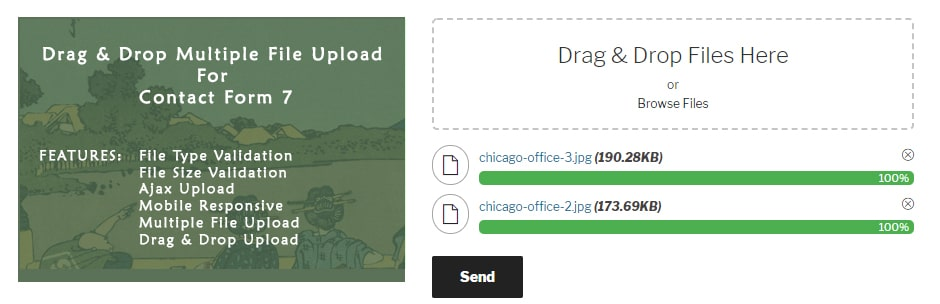 drag and drop multiple file upload contact form 7