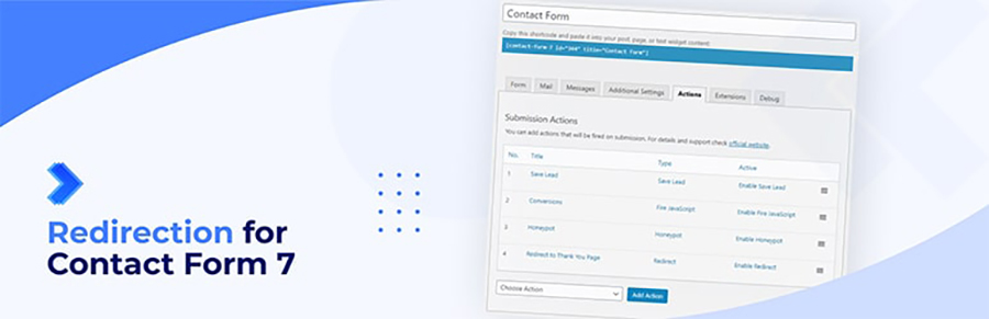 redirection for contact form 7